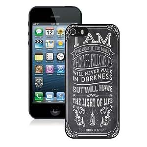 CiCi Mode Christian Jesus Bible Verse Soft Plastic Case Black Custom Phone Shell iPhone 5S Case Cool Design