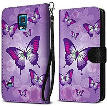 FINCIBO Case Compatible with Samsung Galaxy S5 Sport G860, Protective Flip Canvas Wallet Pouch Case Card Holder TPU Cover for Galaxy S5 Sport (NOT FIT S5) ...