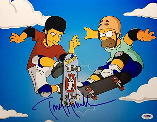 (Tony Hawk Signed 'Simpsons' 11x14 Photo Skateboard *Lords of Dogtown AE94260 - PSA/DNA Certified - Autographed Extreme Sports Photos)