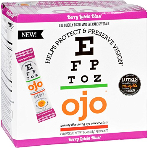 Berry Eye Care (OJO Fortified Nectar Quickly Dissolving Eye Care Crystals, Berry Lutein Blast Flavor, 10 Ounce)