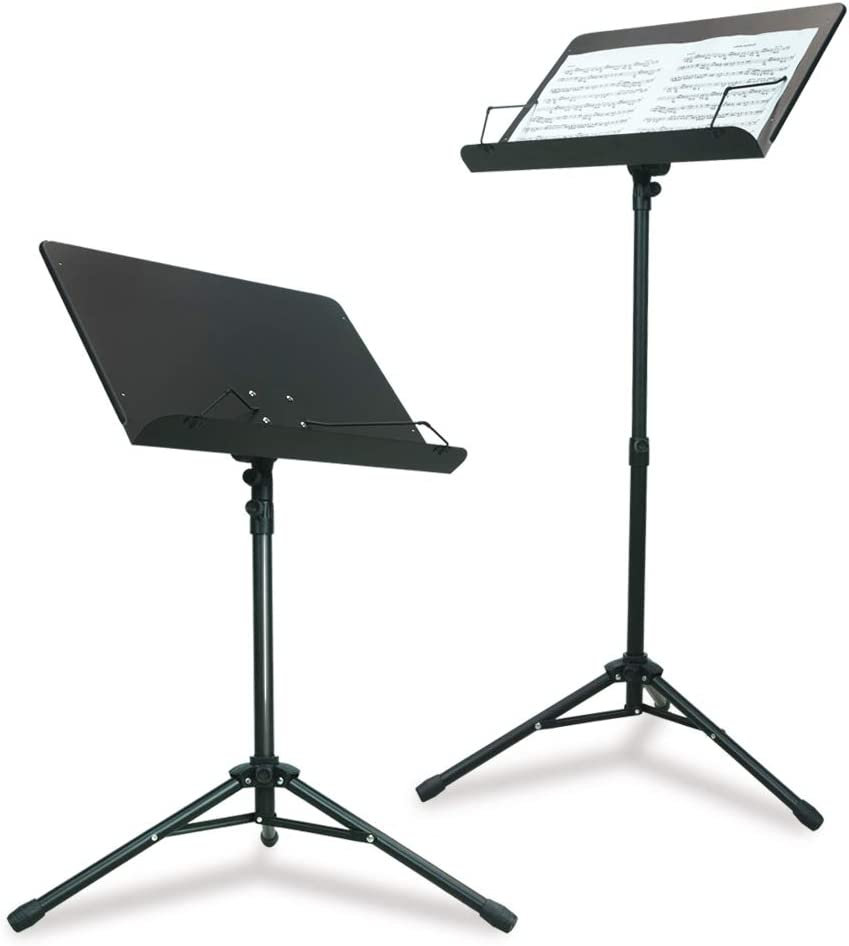 PARTYSAVING Orchestra Sheet Music Stand with Heavy Duty Black Metal Folding Design, 48.5-inch Tall, APL1359