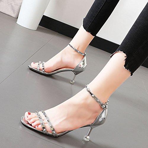 Xue Qiqi Qiqi Qiqi Sandalen weiblichen fein mit Tau - der Po Frauen Schuhe stilvolle Yoo Schrauben geschlitzten Lasche Schuhe ee2bea