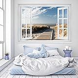 murimage PHOTO WALL MURAL,Beach Window 2T1' 127cm x 183cm ocean way dunes sea wallpaper