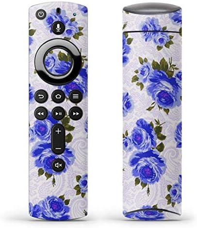 igsticker Fire TV Stick 第2世代 専用 リモコン用 全面 スキンシール フル 背面 側面 正面 ステッカー ケース 保護シール 006854 フラワー 花 フラワー 模様