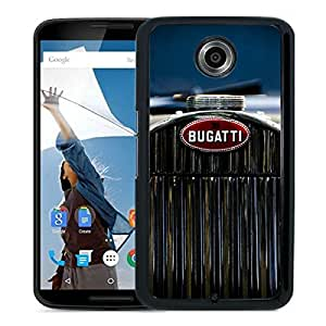 Beautiful Designed Cover Case For Google Nexus 6 With bugatti 2 Black Phone Case