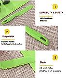 5 Pieces Nylon Plastic Kitchen Knife Set - Safe