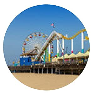 alfombrilla de ratón Playa de Santa Mónica - ronda - 20cm