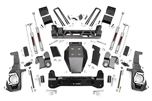 Rough Country 5-inch Non-Torsion Drop Suspension Lift Kit w/ N3 Shocks for Chevy 11-18 Silverado 2500/3500 HD GMC 11-18 Sierra 2500/3500 HD