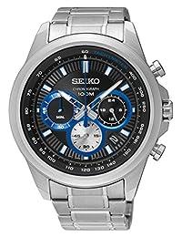 Seiko Men's SSB243 Stainless Steel Chronograph Wrist Watch