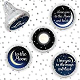 I Love You To The Moon And Back Party Favor Stickers (Set of 324)
