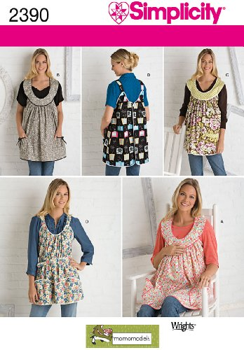 Simplicity Sewing Pattern 2390 Maternity Aprons, A (S-M-L) ()