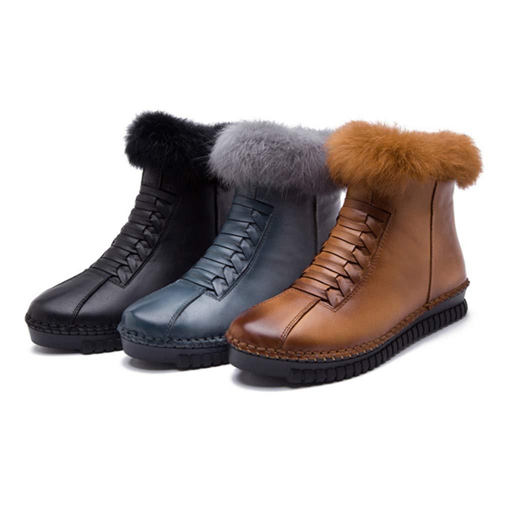 58c2fba43f00a Amazon.com: Eric Carl Women's Winter Ankle Boot Casual Side Zipper ...