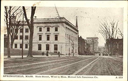 west-to-mass-mutual-life-insurance-co-state-street-springfield-massachusetts-original-vintage-postca