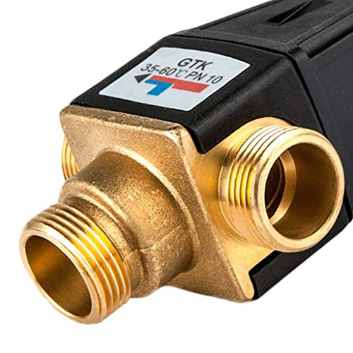 Flameer Brass Automatic Thermostatic Mixing Blending Valve Water Heater Shower Valve - DN20 Male by Flameer (Image #2)