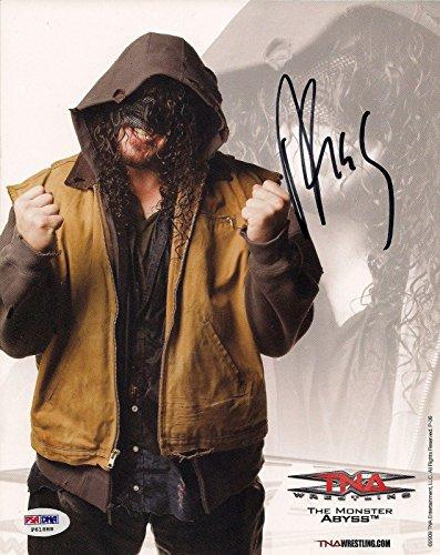 gned TNA Promo 8x10 Photo COA Picture Autograph 2009 - PSA/DNA Certified - Autographed Wrestling Photos ()