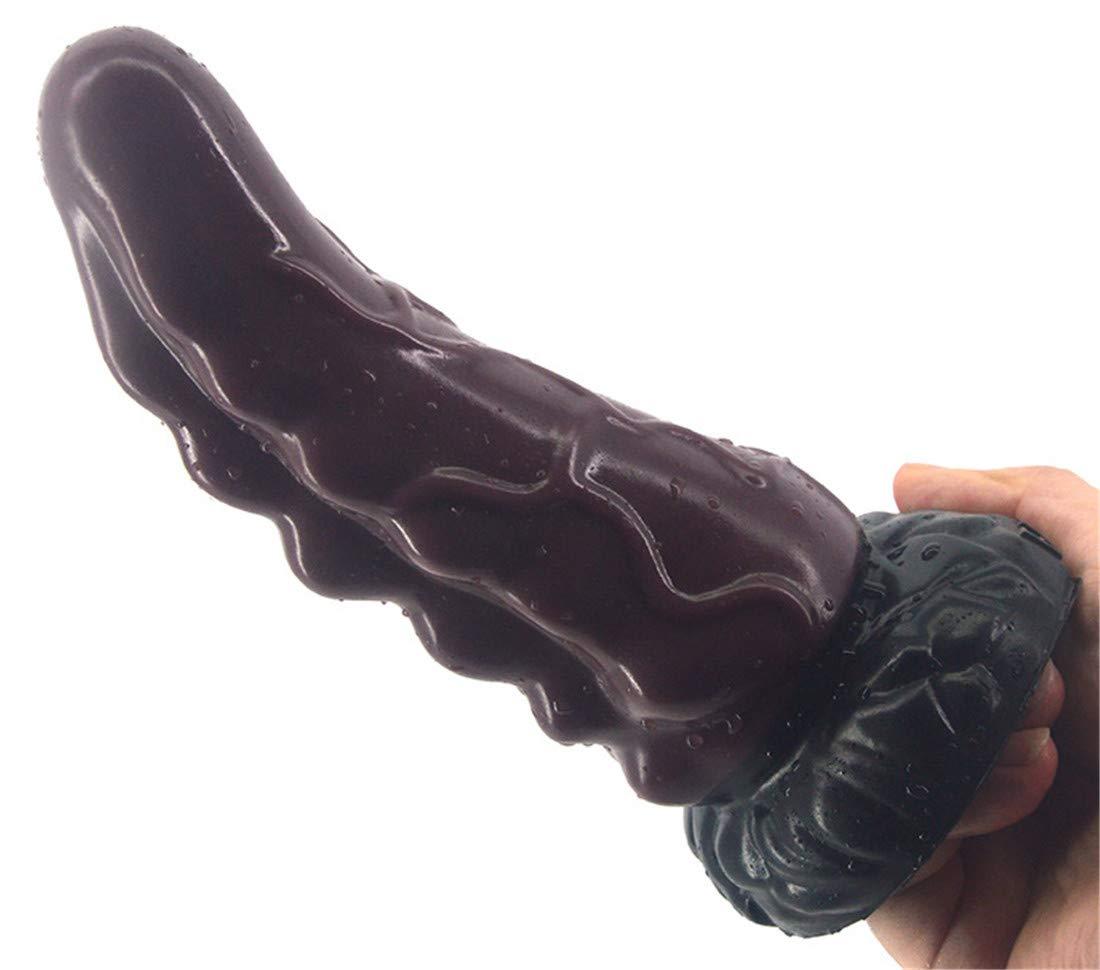 Dromensho Simulación Rhinoceros Cuerno Forma Pene Anal Anal Pene Plug Parejas Diversión Vaginal Masturbación Consolador de Silicona Masaje Stick Adulto Juguetes Sexuales (Color : Marrón) 9bdbd6