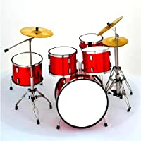 Handmade Red Miniature Drum Kit 15cm Height