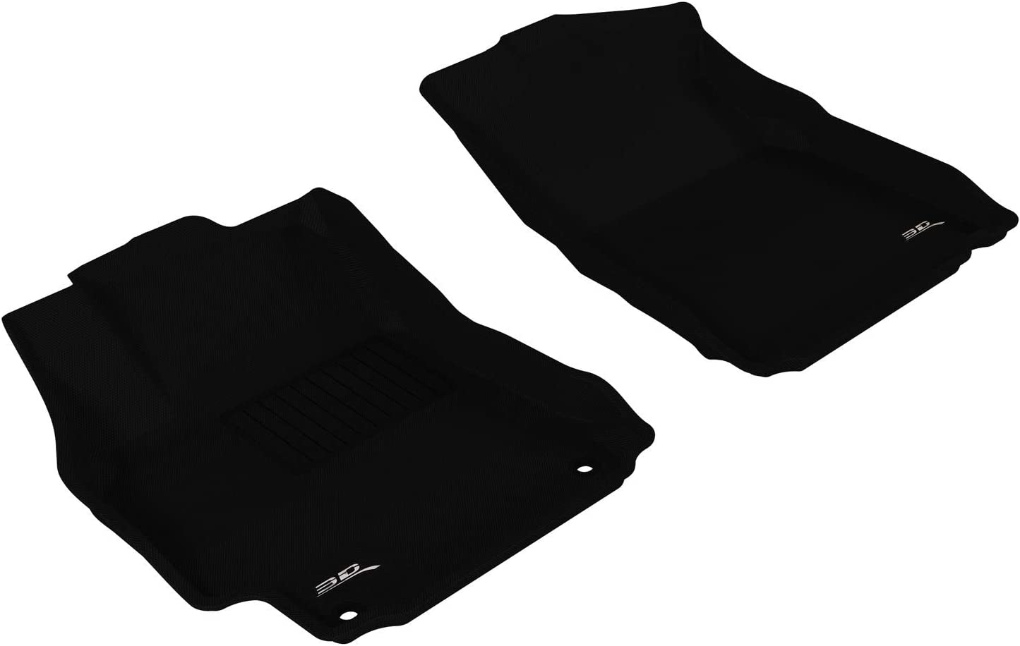 3D MAXpider Front Row Custom Fit All-Weather Floor Mat for Select Toyota Camry Models Kagu Rubber Black