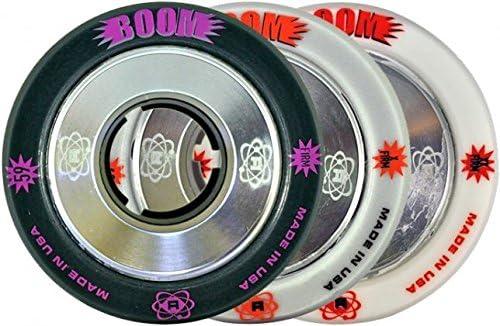 Atom Boomローラーダービーホイール – 合金Core – 4パック 62mm 黒 (firm) 62mm