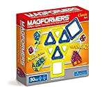 Magformers Classic (30-pieces) Set Magnetic Building Blocks, Educational Magnetic Tiles Kit, Magnetic Construction STEM Toy Set