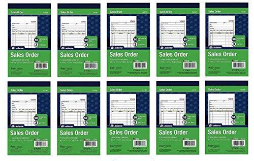 Adams Sales Order Book, 3-Part, Carbonless, 4-3/16