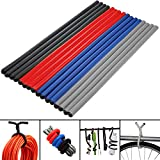 "(16 Pack) Large Twist Ties Heavy Duty 16"" Reusable Flexible Cable Home Organization and Storage"