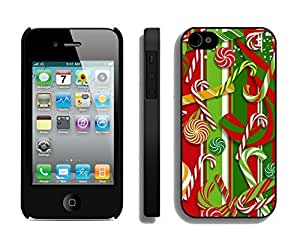 Case For Ipod Touch 5 Cover,Christmas Red Green Decoration Silicone Black Case For Ipod Touch 5 Cover