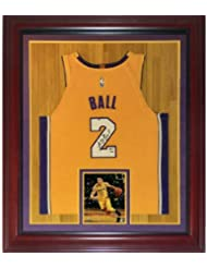 16191043684 Lonzo Ball Autographed Signed Auto Los Angeles Lakers Yellow #2 Deluxe  Framed Jersey PSA -