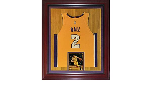def13ea2ab8 Lonzo Ball Autographed Signed Auto Los Angeles Lakers Yellow #2 Deluxe  Framed Jersey PSA - Certified Authentic at Amazon's Sports Collectibles  Store
