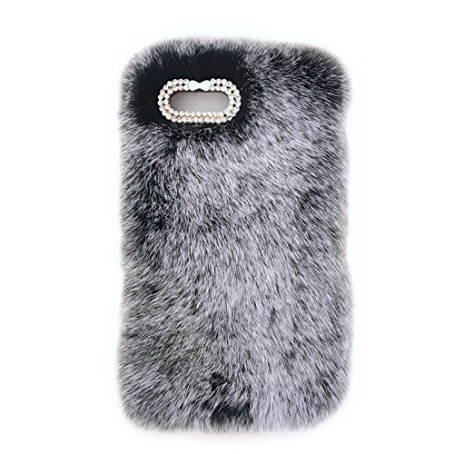 arrives c8f70 79d47 Amazon.com: Fuzzy iPhone Case Real Fur Cell Phone Skins for iPhone 5 ...