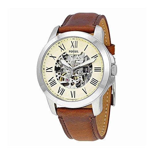 Fossil Men's ME3099 Self-Wind Stainless Steel Watch with Brown Band ()