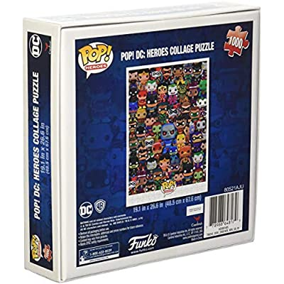 Funko Pop Heroes, DC Comics Pop Heroes Collage Jigsaw Puzzle - 1000 Pieces: Toys & Games