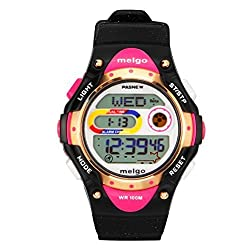 Hiwatch Waterproof 100M Digital Childs Watches Black with Gift Box