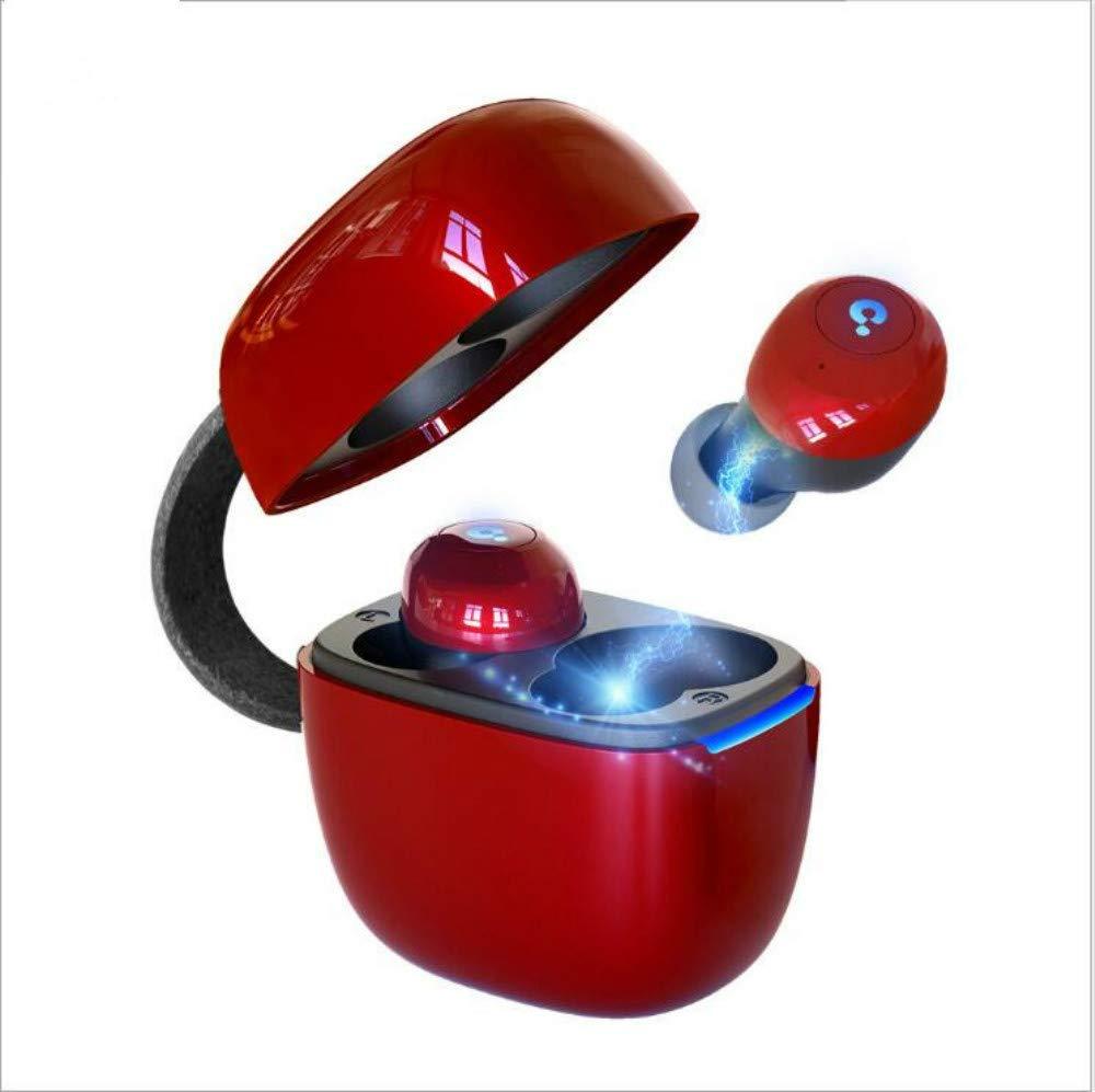 BlueWow A7 TWS Bluetooth 5.0 イヤホン トゥルーワイヤレススポーツイヤホン IPX5 防水ステレオイヤホン マイク付き ハンズフリー通話用 レッド B07MXFS9CX