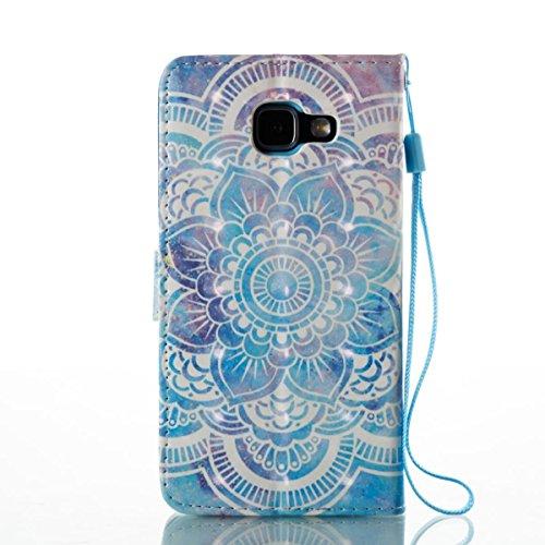 Funda Samsung Galaxy A510, Mariposas enamoradas Funda Libro de Cuero Flip Cover con TPU Case Interna Para Samsung Galaxy A510, Wallet Case con Soporte Plegable, Ranuras para Tarjetas y Billete Datura