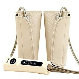 Lifelong LLM18 Air Pressure Massager for blood circulation and pain relief of Arms, Leg, Calf and Foot (Brown)
