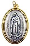 Gold and Silver Tone 1 1/2 Inch Our Lady of Guadalupe Medal