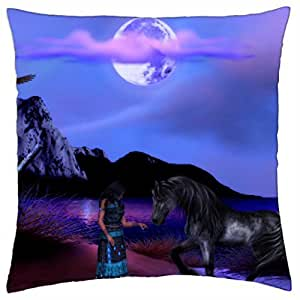 Porcelain Night - Throw Pillow Cover Case (18