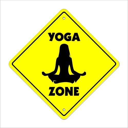 (SignMission Yoga Crossing Decal Zone Xing | Indoor/Outdoor | 4
