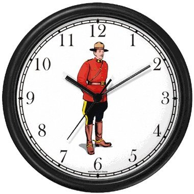 Royal Canadian Mounted Police - Mountie - Canada No.2 Wall Clock by WatchBuddy Timepieces (Hunter Green (Mounty Police)