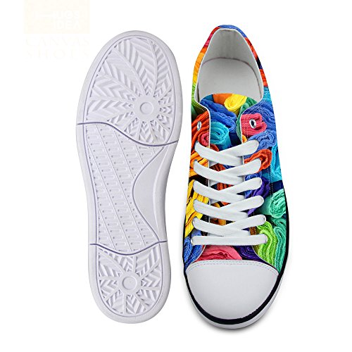 Low Flat Unisex Stylish Lace FOR Lightweight U Wave C2 Top Shoes Multi DESIGNS up Sneaker Stripe Fashion Print Uxq0xzHw