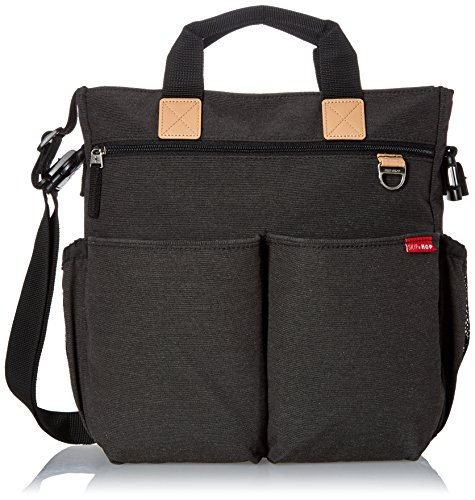 Skip Hop Messenger Diaper Bag with Matching Changing Pad, Duo Signature, Soft Slate ()