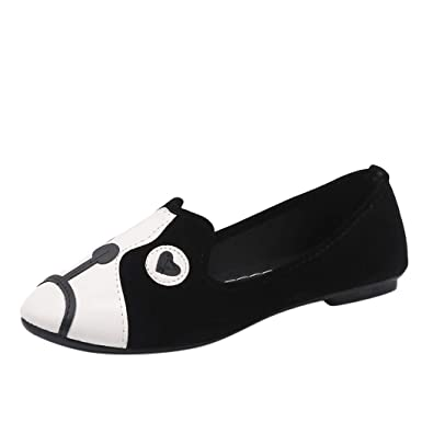 438785a3b153 Amazon.com  Women s Classic Flats Round Toe Ballet Slip On Cartoon Animal  Comfort Loafers Shoes  Clothing