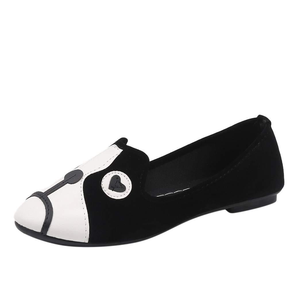 Xmiral Chaussures Femme Compens/ées la Mode Chien de soja P/édale