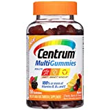 Centrum Adults MultiGummies Multivitamin / Multimineral Supplement Gummies (Natural Berry, Cherry and Orange Flavor, 150 Count) (Package May Vary)