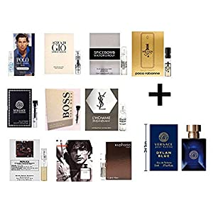 10 Men's Designer Samples plus One Designer Cologne Miniature