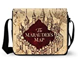 Women Classic Fabric Shoulder Bags Messenger Bags Briefcase-Harry Potter & Hogwarts Collections Marauder's Map Print 12.29.4 Inch.