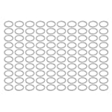 uxcell 100Pcs 18mmx24mmx2mm Aluminum Motorcycle Hardware Drain Plug Washer