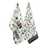 DII Cotton Summer Dish Towels, 18x28 Set of 2, Decorative Oversized Kitchen Towels
