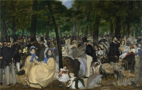 Oil Painting 'Edouard Manet - Music In The Tuileries Gardens,1862' Printing On High Quality Polyster Canvas , 12x19 Inch / 30x48 Cm ,the Best Hallway Gallery Art And Home Artwork And Gifts Is This High Definition Art Decorative Canvas Prints